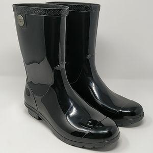 UGG Australia Sienna Size 9 Black Rubber Rain Boot